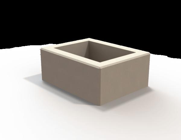 Welded steel cube planter