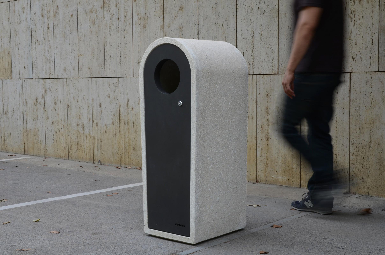 Paperhouse Cast Stone Litter Bin