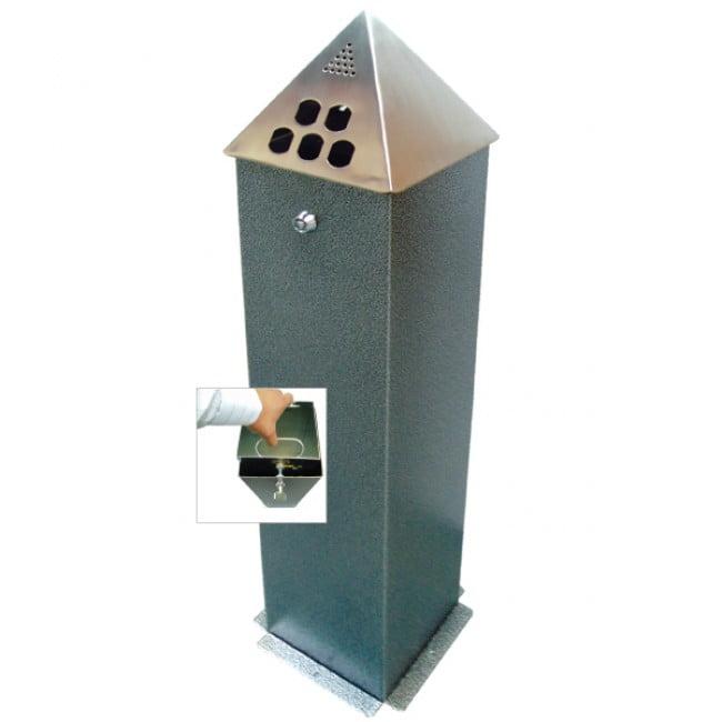 Floor Mounted Pyramid Top Cigarette Bin
