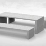Lamina 240 Cast Stone Table