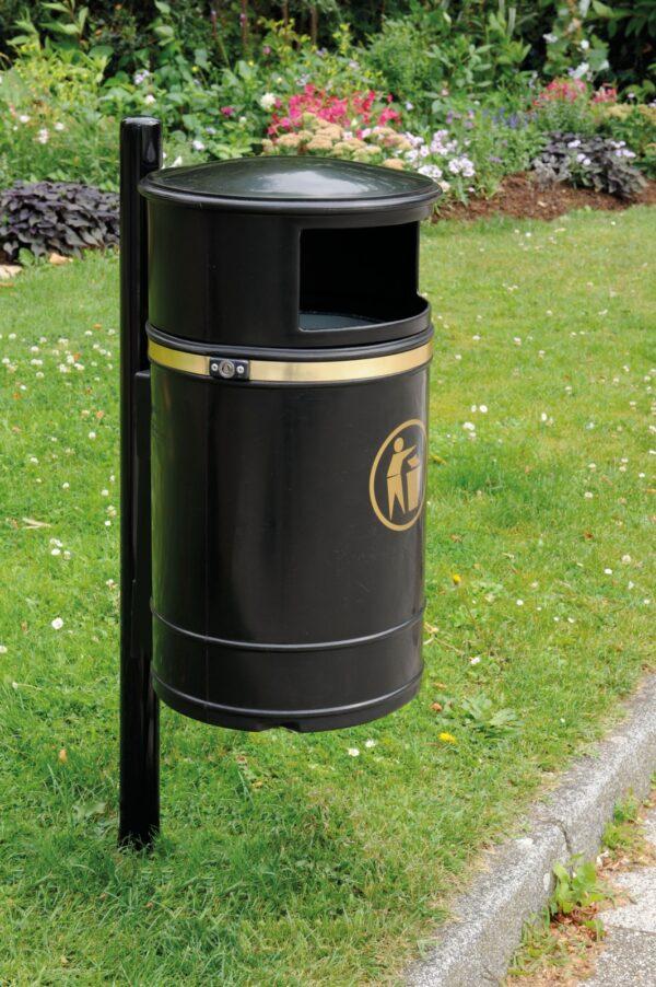 Post/Wall Mounted Plastic Litter Bin